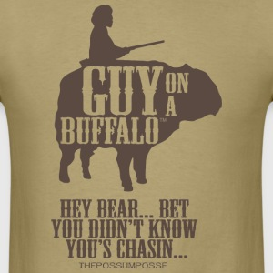 The Possum Posse Guy On a Buffalo-Bear T-Shirts - Men's T-Shirt
