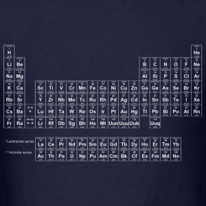 Periodic Table White - Men's T-Shirt
