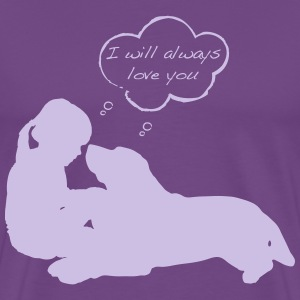 Love and Rescue: Purple Child's T - Men's Premium T-Shirt