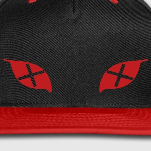 Cross Eyes Cap (Red) - Snap-back Baseball Cap
