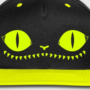 Creepy Cat Cap (Yellow) - Snap-back Baseball Cap