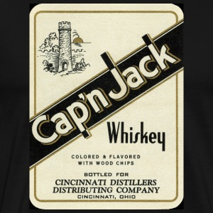 Retro Cap'n Jack Whiskey - Men's Premium T-Shirt