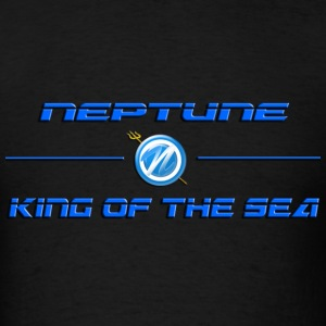 Neptune King Of The Sea Tee Blk - Men's T-Shirt