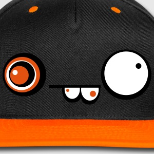 Derpy Crazy Face Cap (Orange) - Snap-back Baseball Cap