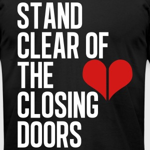 Closing doors white - Men's T-Shirt by American Apparel