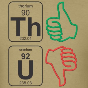 Thorium Uranium Thumbs - Men's T-Shirt