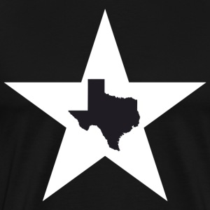 Texas Big Lone Star Black T-Shirt - Men's Premium T-Shirt
