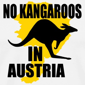 no kangaroos in austria T-Shirts - Men's Premium T-Shirt