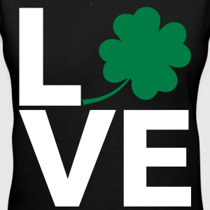 Love Shamrock - Country Closet Women's T-Shirts - Women's V-Neck T-Shirt
