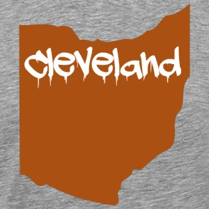 Cleveland Ohio Graffiti T-Shirt - Men's Premium T-Shirt