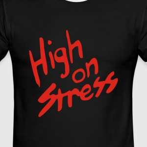 Revenge of the Nerds – High On Stress - Men's Ringer T-Shirt