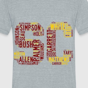 All Time SoCal Football Greats SC Design Unisex Tr - Unisex Tri-Blend T-Shirt by American Apparel