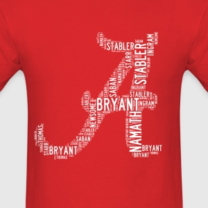 All Time Alabama Football Greats A Design Men's Ba - Men's T-Shirt
