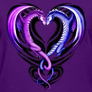 Dragon Heart Purple - Women's T-Shirt