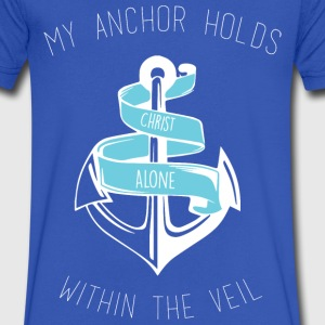 Christian Anchor V-Neck Tee - Men's V-Neck T-Shirt by Canvas