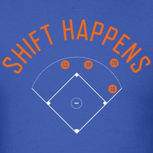 Shift Happens (Royal/Orange/White) - Men's T-Shirt