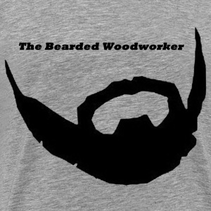 The Bearded Woodworker Tshirt - Men's Premium T-Shirt