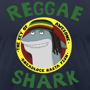 Reggae Shark - Men's T-Shirt by American Apparel