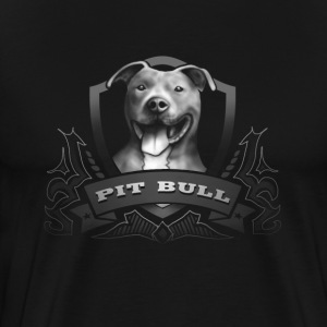 Pit Bull Dog Black Tshirt T-Shirts - Men's Premium T-Shirt