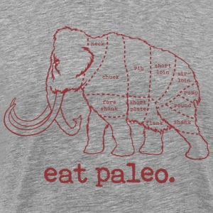 Woolly Mammoth Paleo Diet Butcher Cut T-Shirt Burg - Men's Premium T-Shirt