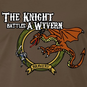 The Knight Battles A Wyvern - Men's Premium T-Shirt