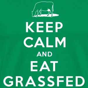 Keep Calm and Eat Grassfed T-Shirt - Men's Premium T-Shirt