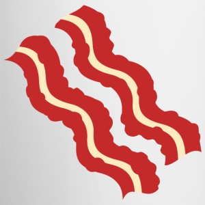 Bacon Strips Two-Tone Mug - Contrast Coffee Mug