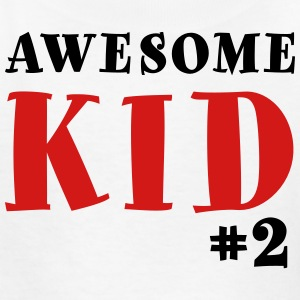 Awesome Kid #2 Youth Shirt - Black & Red Lettering - Kids' T-Shirt