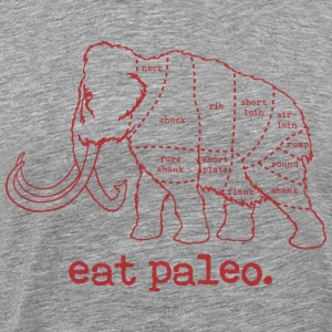 Eat Paleo Woolly Mammoth Butcher Cut T-Shirt - Men's Premium T-Shirt