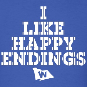 I Like Happy Endings (Chicago Baseball) - Men's T-Shirt