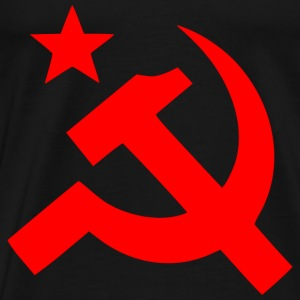 Hammer and Sickle - Black and Red - Men's Premium T-Shirt
