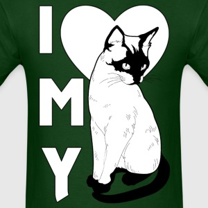 I Love My Cat Mens T-Shirt - Men's T-Shirt