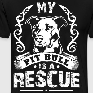 My Pit Bull is a Rescue - Men's Premium T-Shirt