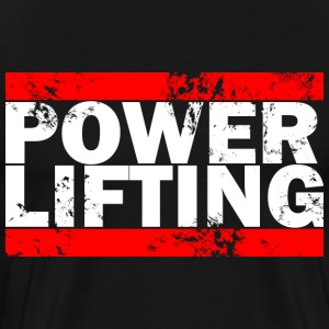 Power Lifting Logo Tee - Men's Premium T-Shirt