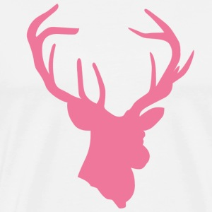 DEER HEAD // PINK - Men's Premium T-Shirt