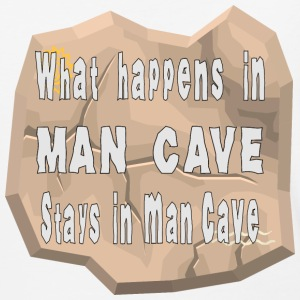 What Happens In Man Cave Stays In Man Cave - Baseball T-Shirt