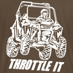 UTV Racer Throttle It T-Shirts - Men's Premium T-Shirt