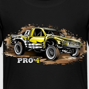 Pro4 Race Truck Yellow Baby & Toddler Shirts - Toddler Premium T-Shirt