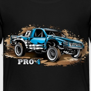 Pro4 Race Truck Blue Baby & Toddler Shirts - Toddler Premium T-Shirt