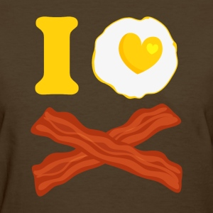 I Love Bacon And Eggs Women's T-Shirts - Women's T-Shirt