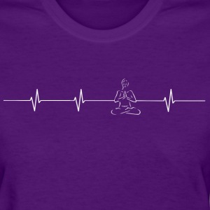 Yoga Heartbeat Ladies T - Women's T-Shirt