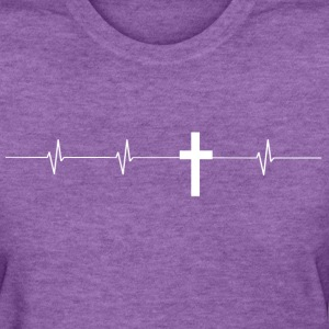 Cross Hearbeat Ladies T - Women's T-Shirt