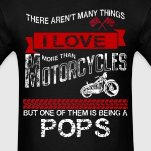 This Pops Loves Motorcycles T-Shirts - Men's T-Shirt