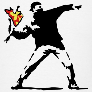 Banksy Flower Thrower T-SHIRT - Men's T-Shirt