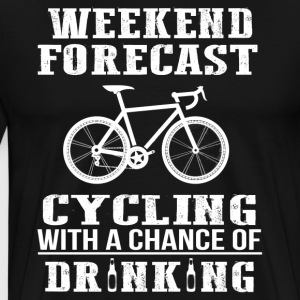 Cycling and Beer Funny T-Shirt - Men's Premium T-Shirt