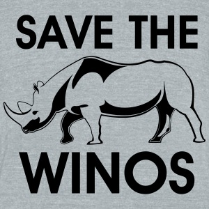 save the winos - Unisex Tri-Blend T-Shirt by American Apparel
