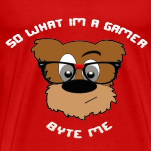 Nerdy Bear So What (White) - Men's Premium T-Shirt
