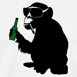 beer bottle monkey T-Shirts - Men's Premium T-Shirt
