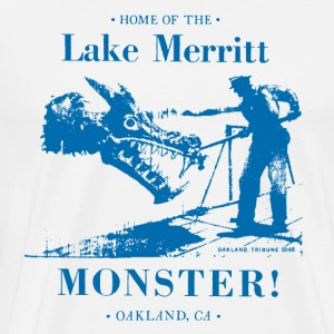 Classic Monster - Blue on White - Men's Premium T-Shirt
