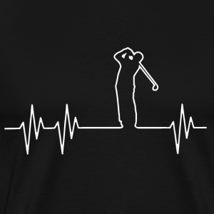 Golf Heartbeat T-Shirt - Men's Premium T-Shirt